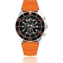 Chris Benz Ladies, Men, Unisexwatch CB-C300-O-KBO chronographs, Divers´ watch