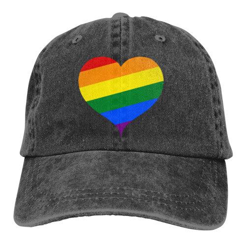 Gay Lesbian LGBT Pride Love Denim Baseball Caps