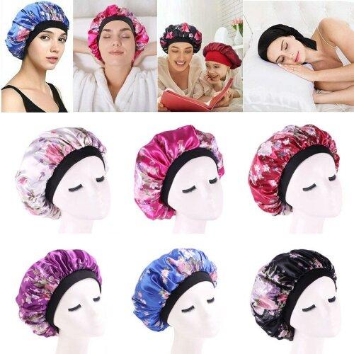 Lady Hair Care Bonnet Sleeping Hat Head Cover Wrap