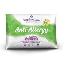 (Soft, 2 Pack) Slumberdown Anti Allergy Pillow