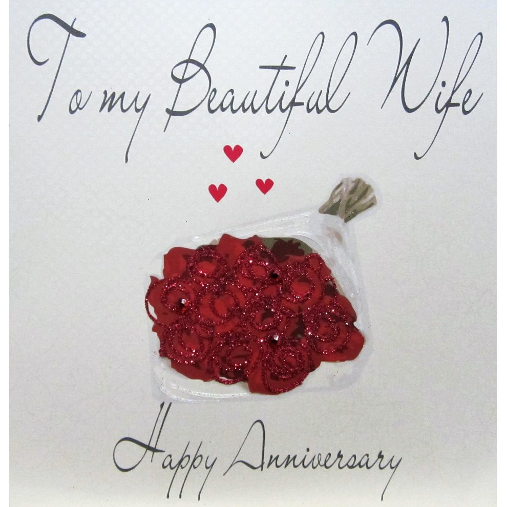 white cotton cards code xlwb47 to my beautiful wife happy