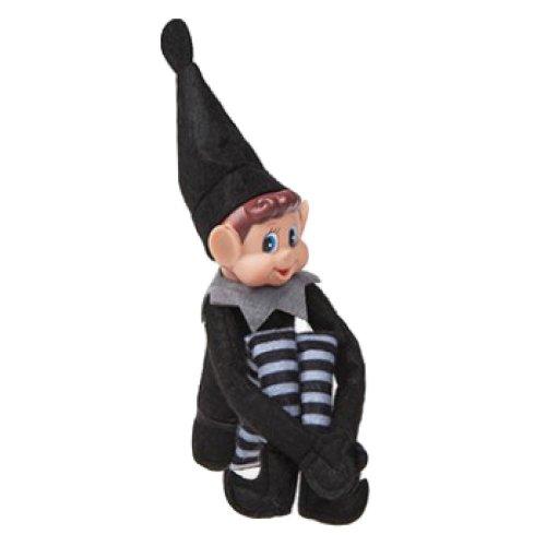 """Elves Behavin' Badly - Black Long Legged Elf 12"""""""