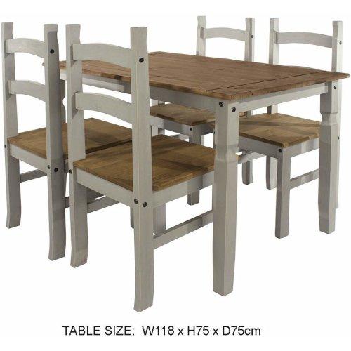 White Star rectangular dining table & 4 chair SET