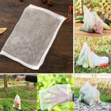 Garden Plant Fruit Protect Bags Drawstring Net Mesh Bag Against Insect Pest Bird