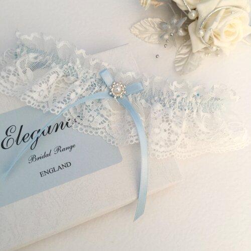 Off White Wedding Garter, X Small to Plus Sizes, boxed