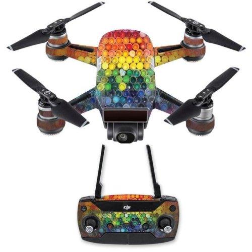MightySkins DJSPCMB-Color Me Skin Decal for DJI Spark Mini Drone Combo Sticker - Color Me