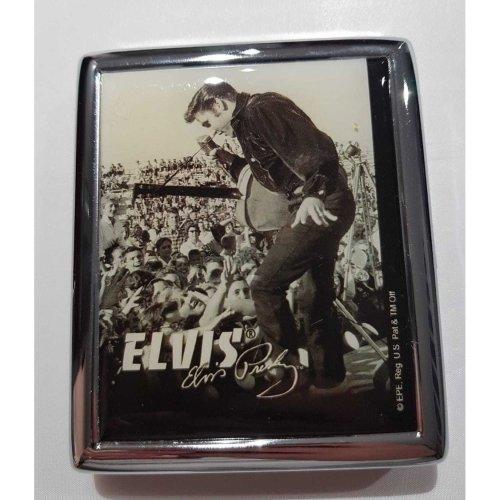 Elvis Presley Black & White - Stainless Steel Cigarette Case +Gift Box