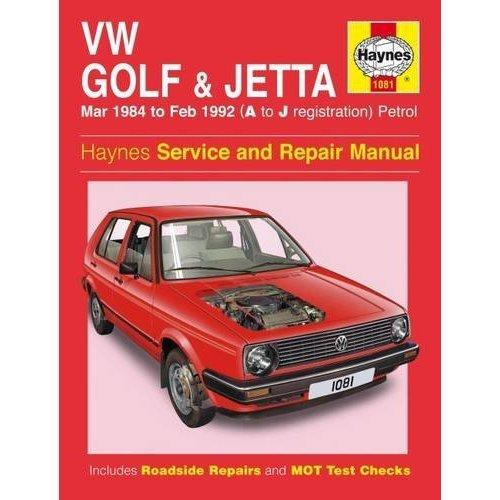 VW Golf & Jetta Mk 2 Petrol (Mar 84 - Feb 92) Haynes Repair Manual (Haynes Service and Repair Manuals)
