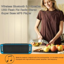 Y30 Wireless Bluetooth 3.0 Speaker USB Flash Stereo Super Bass MP3 Player