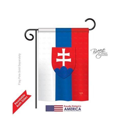 Breeze Decor 58197 Slovakia 2-Sided Impression Garden Flag - 13 x 18.5 in.