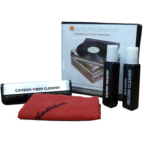 Vinyl Record Cleaner Kit with Stylus, Disc Cleaning Cloth & Solution