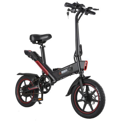 DOHIKER Electric Bike 14''Wheel Folding Bicycle 350W 25km/h Waterproof