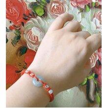 Tibetan Buddhist Bracelets Handmade from Red string/rope With Jadeite