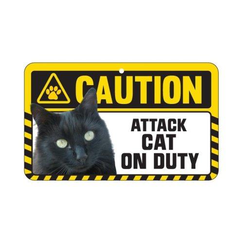 Black Cat Caution Sign