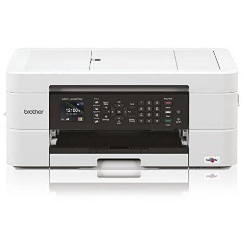 Brother Multifunction Printer Brother MFCJ497DWZX1 WIFI 128 MB White
