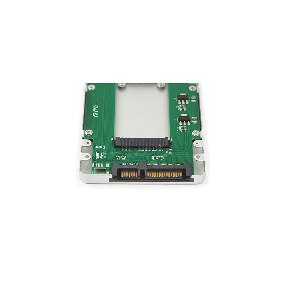 """mSATA to SATA III Mini PCI-E to 2.5/"""" Flash SSD Convertor Enclosure Caddy new"""