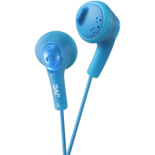 JVC Gumy Bass Boost Stereo Headphones for iPod iPhone MP3 and Smartphone - Peppermint Blue