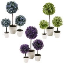 2pc Outdoor Artificial Boxwood Ball Trees