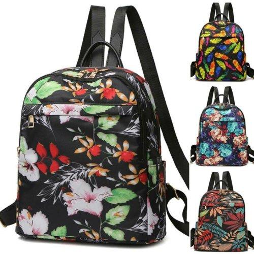 Women Backpack Floral Travel Handbag Rucksack Shoulder School Book Bag