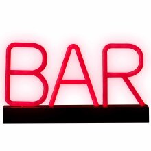 Neon LED BAR Sign | Super bright | Portable LED light up letters | Bar Décor | Battery Light | Pub Sign| Red Light | Party Light | Bar Light