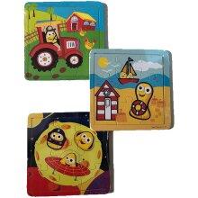 CBeebies My First Wooden Jigsaw Puzzles - 3 Design Set