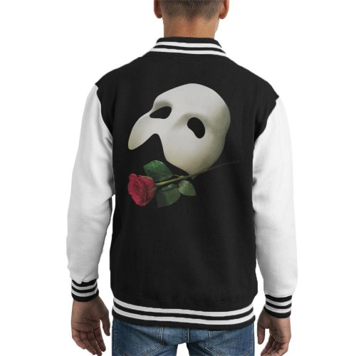 The Phantom Of The Opera Mask & Rose Kid's Varsity Jacket