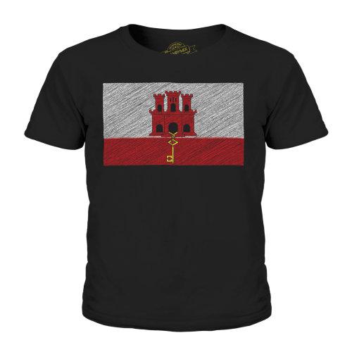 Candymix - Gibraltar Scribble Flag - Unisex Kid's T-Shirt