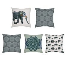 Indian Elephant Outdoor Scatter Cushion Cover Set