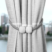 2x Strong Grey Magnetic Curtain Tie Backs Curtain Holdbacks Buckle Clips