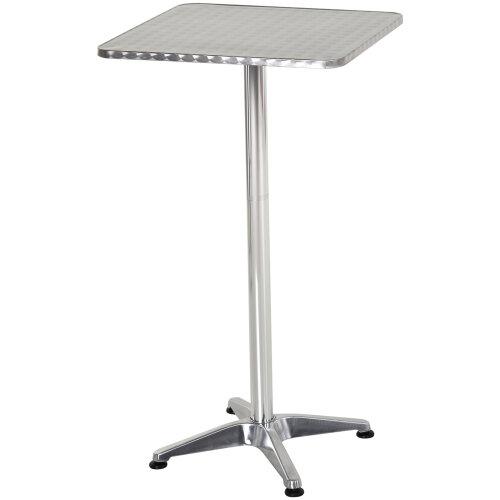 HOMCOM tainless Bar Table Steel Top Adjustable Height  Bistro Home