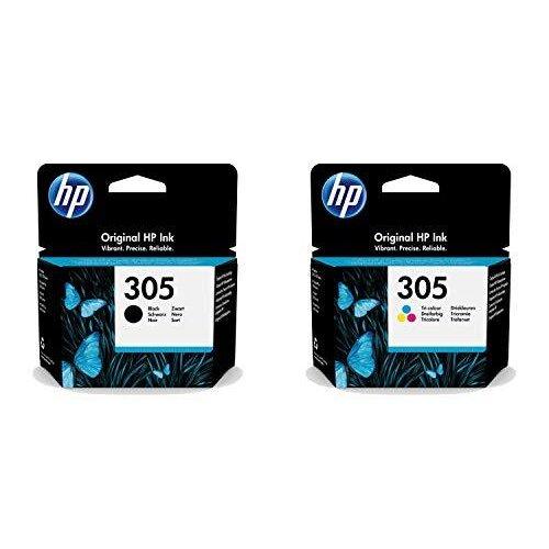 HP Original 305 Black & Tri-Colour Ink Cartridge, Multipack, 3YM61AE, 3YM60AE