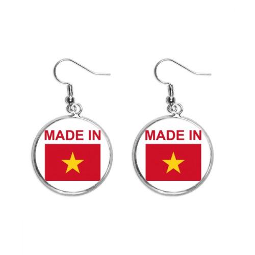 Made In Vietnam Country Love Ear Dangle Silver Drop Earring Jewelry Woman