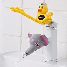 Water Tap Children's Sink Extender Baby Hand Washing Faucet Extension Spout Artifact Water Pipe Splash-proof Cartoon(#09)