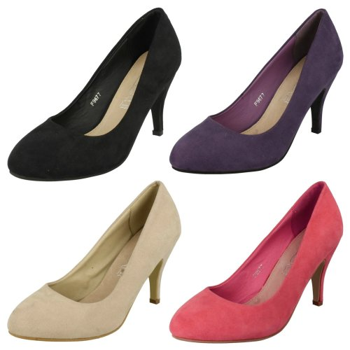 Ladies Spot On Heeled Court Shoes
