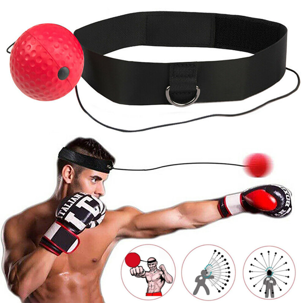 Fight Ball Reflex Boxing Trainer Training Boxer Speed Punch Head Cap String Hot