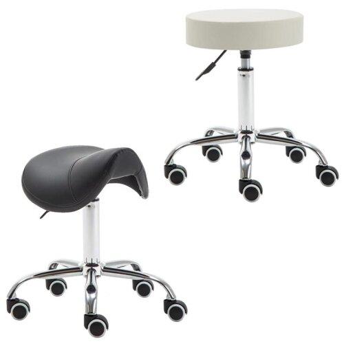Makeup barbershop rolling saddle stool