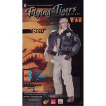 Dragon 1/6 Scale World War 2 WWII ROC American Volunteer Group AVG Flying Tiger P40 Pilot Ben Cole 12 Action Figure (2001