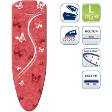 Leifheit Ironing Cover Perfect Steam Air Board Express L 130x45cm Assorted, Cotton, Multicoloured, 6.5 x 0.44 x 23 cm