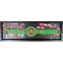 Framed Mike Tyson signed Full Size WBC Boxing Belt with COA & proof