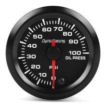 """2"""" 52mm Universal Car 7 Colors LED PSI Oil Pressure Gauge Meter Sensor for 4/6/8 Cylinder Engine 12V Gasoline Cars Vehicles"""