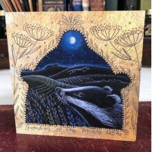 The Guardian of the Ancient Land Greetings card by Hannah Willow