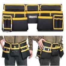 11 Pockets Double Tool Belt Work Storage Pouch Organizer Carpenter Adjustable