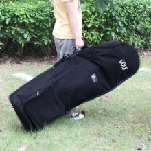 Black Padded Golf holiday travel cover / bag case with wheels