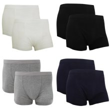 Fruit Of The Loom Mens Classic Shorty Cotton Rich Boxer Shorts (Pack Of 2)