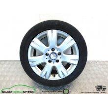 """Mercedes C-class W204 16"""" 7-spoke Alloy Wheel & Tyre A2044012602 07-14 (ref 1) - Used"""