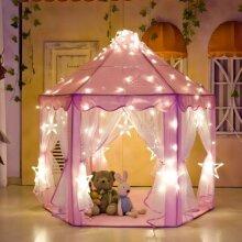 Children Kids Play Tent Princess Girls Boys Playhouse House & Light