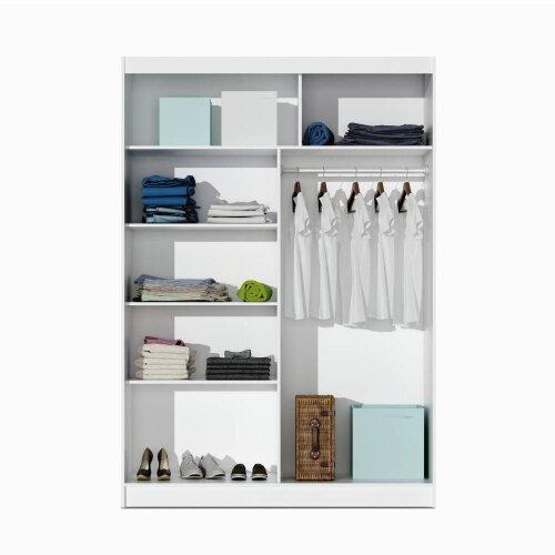Modern and Practical Sliding Door Wardrobe PARIS 150 Graphite