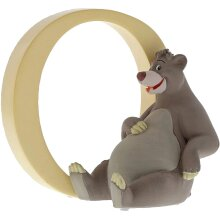 Disney Enchanting Collection Hand Painted Letter Ornament Baloo Bear - O - 7 cm