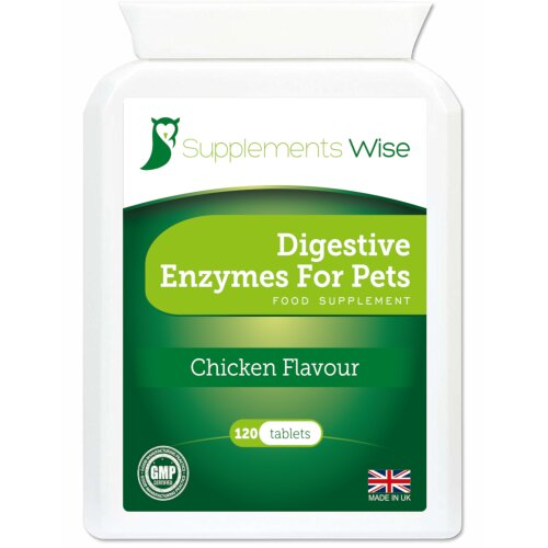 Digestive Enzymes For Dogs & Cats 120 Tablets Chicken Flavour