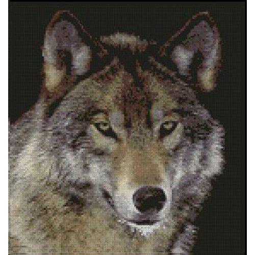 Wolf Complete Counted Cross Stitch Kit